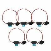 5x Waterproof Car Auto 15Amp In Line Blade Fuse Holder Fuses