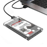 ORICO 2139U3-CR 2,5 inci Transparan USB3.0 HDD Hard Drive Enclosure Storage Case