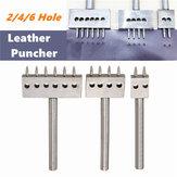 8mm Odstęp Row Leather Craft okrągły otwór dziurkacza Puncher 2/4/6 Hole