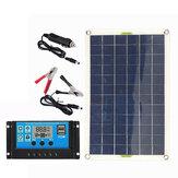 100W panneau solaire kit 12V chargeur de batterie 10-100A LCD contrôleur pour caravane van bateau