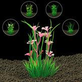Искусственные пластиковые аквариумные растения Трава для аквариумного фона Украшения орнаментов FishTank