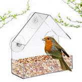 Акриловый прозрачный лоток для кормления для птиц, скворечник, окно на присоске
