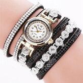 CCQ Mode luxe strass femmes montre bracelet à quartz