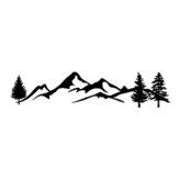 100x20cm Coche Pegatina Gráficos Decal Snowy Mountain Range Para Camper Van Motorhome Cocheavan