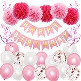 Buon compleanno festa decorazione Banner Bunting palloncini sfondo