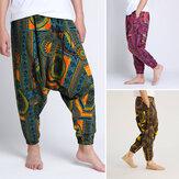 3 kleuren heren casual elastische taille broek Thaise visser harembroek