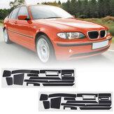 Karbon Fiber Desen Araba İç Dashboard Sticker Wrap Dekorasyon BMW 3-Series E46 2001-2004 için Sol El Sürüş