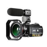 Ordro AC3 Kamera cyfrowa Kamera wideo DV 4K 24MP 3.1 Cal IPS Ekran dotykowy 5MP CMOS Night Vision Obsługa WIFI z mikrofonem z obiektywem 0,39x