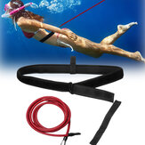 3/4x5x9m Red Swimming Resistance Bands Swim  Training Belts Harness Static Swimming Exercise with Storage Bag