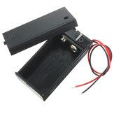 Caja de Contenedor de Almacenamiento de Batería DIY 9V Soporte de Caso Con Interruptor de Palanca de ENCENDIDO/APAGADO