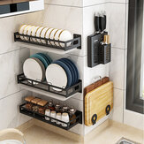 Kitchen Shelf Bowl Shelf Spice Rack Dish Storage Rack Wall Shelf Holder Stainless Steel