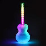 SOLO 23 İnç Konser Benzersiz LED Aydınlatma Akıllı Ukelele Anti-Kırık Polikarbonat Ukulele ile Çanta