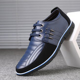 Big Size Men Microfiber Oxfords-schoenen