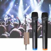 DC 12V UHF 2 Channel Dual Wireless Handheld Microphone Speaker Mics w/ Receiver