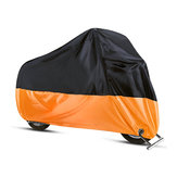 190T Motorcycle Cover Waterproof Outdoor Rain Dust UV Scooter Orange Black Protector L-4XL