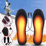 5V2A電気加熱式足靴インソールUSBフットヒーターウォーマー通気性のあるウォッシャブルでクロッピング可能なアダプター付きデオドラント