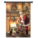 30x45cm natal poliéster Papai Noel boas-vindas a bandeira Holiday Garden decoração