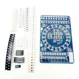 Componente SMD Soldadura Tablero de práctica DIY Kit de capacitación electrónico