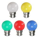 3W B22 Colorful Parte 3 LED 2835 SMD Lâmpadas de poupança de energia Lâmpadas duráveis AC 220V