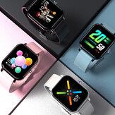 [Bluetooth-Anrufe] Bakeey Y30 Custome Dial Music Control 1,54-Zoll-Großbild-Herzfrequenz-Blutdruck-Sauerstoffmonitor Smart Watch