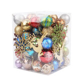 60-70 Pcs Christmas Ball Ornaments Shatterproof Christmas Balls Decor Tree Balls For Home Office Decoration