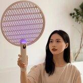 Elektromos szúnyogcsapó LED-es légy szúnyoggyilkos fény Type-C újratölthető intelligens akkumulátor-kijelző szúnyogdiszter