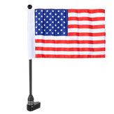 Evrensel Motosiklet Bisiklet Bayrak Direği Valiz Raf Dağı Amerikan Bayrağı / Korsan Kafa Tası