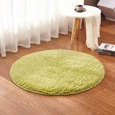 KCASA KC-MP1 60cm Non-Slip Ensemble de sol de chambre Tapis de peluche mousseux Tapis de salle à manger couleur pure