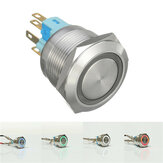 12V 6 Pin 22mm Led Light Metal Push Botão Interruptor Momentâneo Interruptor Waterproof