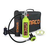 SMACO 1L Scuba Oxygen Cylinder Underwater Diving Set Air Oxygen Tank With Adapter & Storage Box Diving Adapter  Set equipment