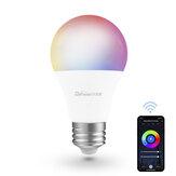 Difeisi DFS-AC-0001 E26 9W WIFI A19 RGB + CCT Lâmpada inteligente 810LM AC100-130V Funciona com Alexa e Google Assistant