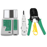 RJ45 RJ11 RJ12 Cat5e 6 LAN Phone Data Network Tool Kit + Modular Plug + Cable Tester