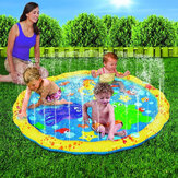 100CM Inflatable Children's Lawn Splash Sprinkler Mat Play Pad with PVC Material for Outdoor