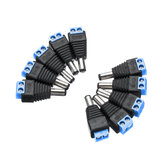 10Pcs CCTV Cameras 2.1mm x 5.5mm Male DC Power Plug Adapter Jack Adapter Connector Plug Socket CCTV Security Camera Surveillance LED