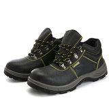 TENGOO Men's Hiking Shoes Steel Toe Safety Shoes Anti-Smashing Work Shoes Outdoor Sneakers
