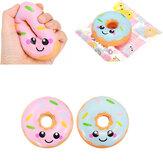 Sanqi Elan 10cm Squishy kawaii Smiling Yüz Donuts Charm Paketi ile Ekmek Çocuk Oyuncakları