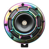 12V 139-170dB Colorful / Green Horn Compact Super Tone Loud Blast Stainless Steel