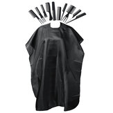 11Pc Hair Styling Comb Set Professional Black Hairdressing Brush Apron Barbers