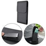 Nero universale marsupio portafoglio magnetica cuoio dell'unità di elaborazione con clip per il telefono 5.7-6.3 pollici
