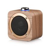 Q1B sans fil bluetooth mini basse stéréo son subwoofer haut-parleur en bois pour téléphone portable