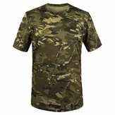 Summer Racing Sports Army Camo Tee Camouflage T Shirts Short Sleeved Casual Hunting