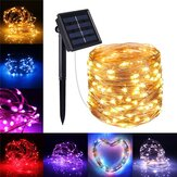 10M 100LED Solar Powered 2 modos Fairy String Light Party Navidad Lámpara al aire libre Jardín Decoraciones para árboles de Navidad Luces