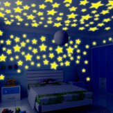 Honana DX-010 100 PCS 3 CM Fluorescente Glow Star Wall Sticker Decor Adesivo