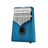 17 Keys African Mahogany Wood Finger Mbira Kalimba Keyboard Thumb Piano Finger Percussion Instrument