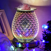 3D Glass Electric Aromatherapy Lamp Home Aromatherapy Machine Touch Feather Aroma Lamp