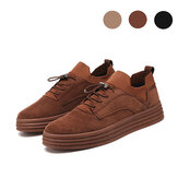 Men Fashion Casual Sneakers Flat Heel Leisure Walking Shoes Low Top Lace-Up Shoe