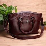 Women Genuine Leather Vintage Oil Wax Handbag