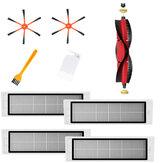 Замена 9 шт. Для XIAOMI Roborock S6 S55 S5 MAX Детали пылесоса Аксессуары Основная щетка * 1 Сторона Кисти * 2 Инструмент для чистки * 1 HEPA-фильтр * 4 Желтая ще