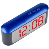 TS-S25 Digital Time Display Touch LED Orologio specchio 3 modalità Luminosità Temperatura regolabile C / F Sveglia Snooze Modalità notte Funzione Luce notturna a LED Tavolo Sveglia desktop Despertador