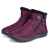 Femmes Casual Keep Warm Zipper Ankle Snow Boots